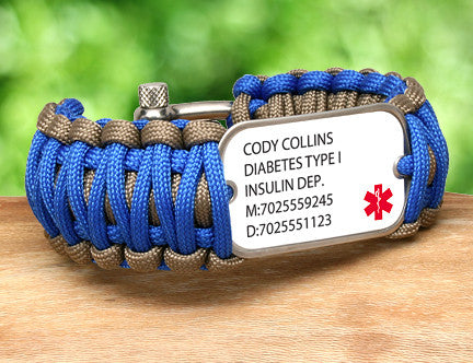 Wide Survival Bracelet™ - Custom Medical Alert