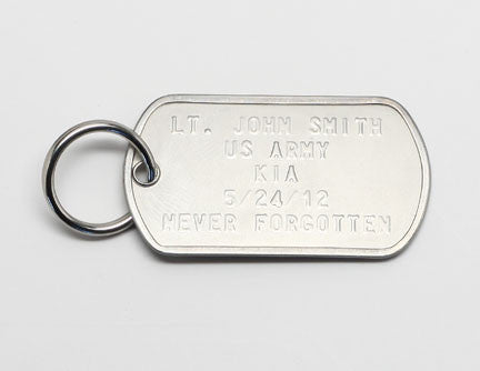 Custom Embossed Dog Tag