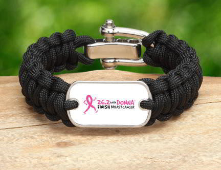 Regular Survival Bracelet™ - 26.2 with DONNA (Black)