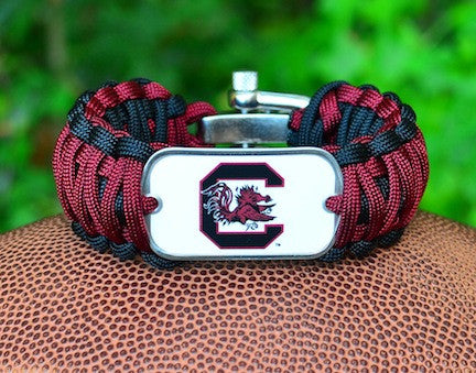 Wide Survival Bracelet - Officially Licensed - South Carolina Gamecocks™