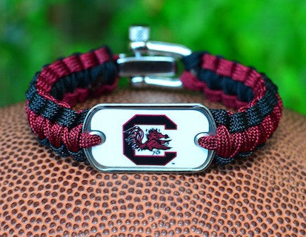Light Duty Survival Bracelet - Officially Licensed - South Carolina Gamecocks™