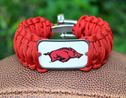 Wide Survival Bracelet - Officially Licensed - Arkansas Razorbacks®