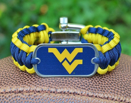 Regular Survival Bracelet™ - Officially Licensed - West Virginia®  Mountaineers®