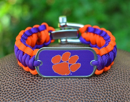 Regular Survival Bracelet™ - Officially Licensed - Clemson Tigers®