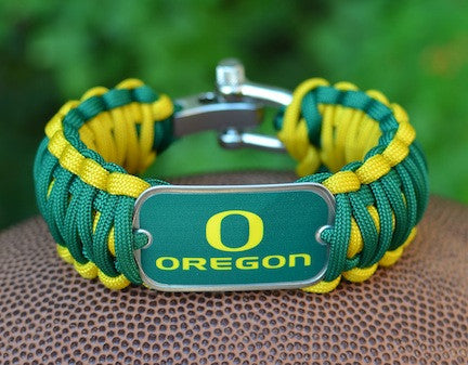 Wide Survival Bracelet - Officially Licensed - Oregon Ducks®