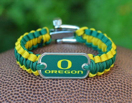 Light Duty Survival Bracelet - Officially Licensed - Oregon Ducks®