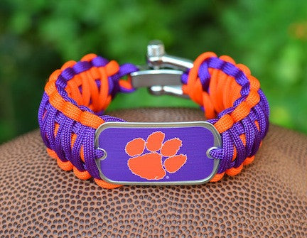 Wide Survival Bracelet™ - Officially Licensed - Clemson Tigers®