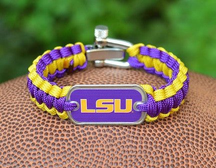 Light Duty Survival Bracelet™ - Officially Licensed - LSU Tigers™