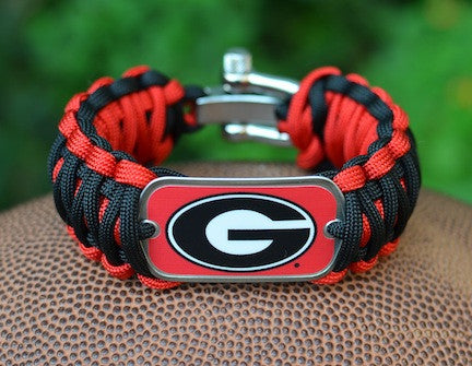 Wide Survival Bracelet™ - Officially Licensed - Georgia® Bulldogs®