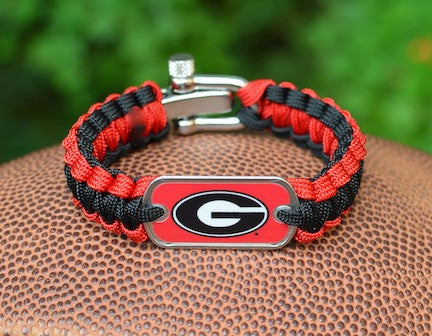 Light Duty Survival Bracelet™ - Officially Licensed - Georgia® Bulldogs®