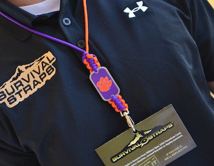Neck ID Lanyard - Officially Licensed - Clemson Tigers®