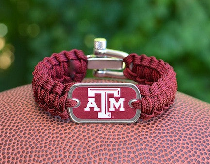 Light Duty Survival Bracelet - Officially Licensed - Texas A&M®