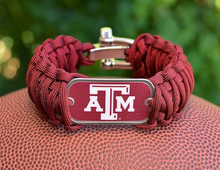 Wide Survival Bracelet - Officially Licensed - Texas A&M®
