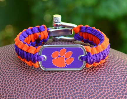 Light Duty Survival Bracelet™ - Officially Licensed - Clemson Tigers®