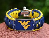 Wide Survival Bracelet™ - Officially Licensed - West Virginia®  Mountaineers®