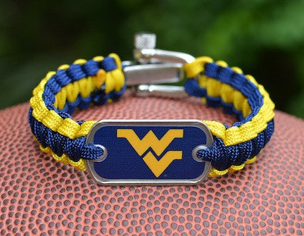 Light Duty Survival Bracelet™ - Officially Licensed - West Virginia®  Mountaineers®