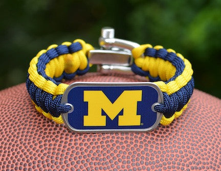 Regular Survival Bracelet™ - Officially Licensed - Michigan Wolverines™