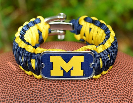 Wide Survival Bracelet™ - Officially Licensed - Michigan Wolverines™