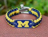 Light Duty Survival Bracelet™ - Officially Licensed - Michigan Wolverines™