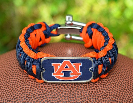 Wide Survival Bracelet™ - Officially Licensed - Auburn Tigers®