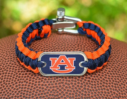 Light Duty Survival Bracelet™ - Officially Licensed - Auburn Tigers®