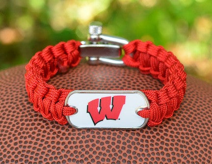 Light Duty Survival Bracelet™ - Officially Licensed - Wisconsin Badgers®