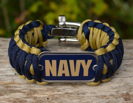 Wide Survival Bracelet - Officially Licensed - U.S. Navy - V1