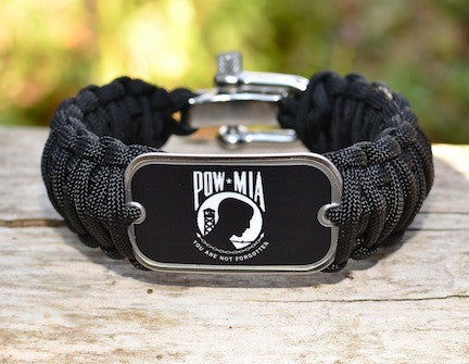 Wide Survival Bracelet - POW/MIA