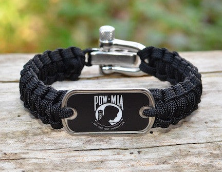Light Duty Survival Bracelet - POW/MIA
