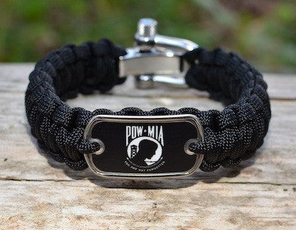 Regular Survival Bracelet - POW/MIA