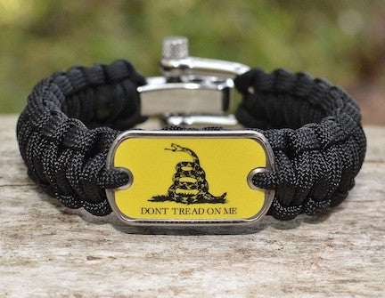 Regular Survival Bracelet - Gadsden Flag