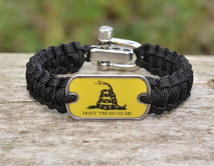 Light Duty Survival Bracelet - Gadsden Flag