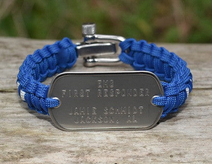 Light Duty Dog Tag Survival Bracelet™ - EMS