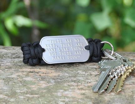 Dog Tag Key Fob