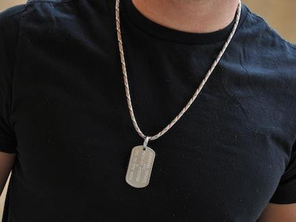 Dog Tag Neck Cord