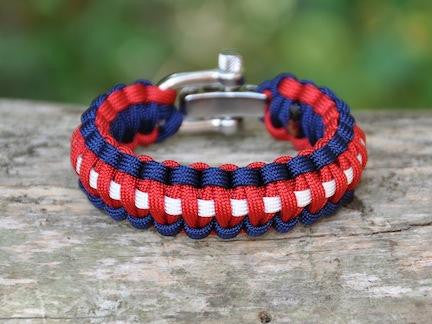 Regular Survival Bracelet - Red, White & Blue