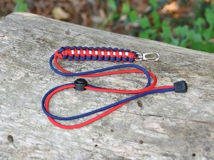 Neck ID Lanyard - Red, White & Blue
