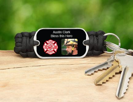 Key Fob - Firefighter Hero Picture
