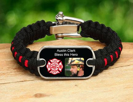 Light Duty Survival Bracelet™ - Firefighter Hero Picture