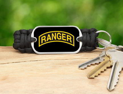 Key Fob - U.S. Army™ Rangers Black