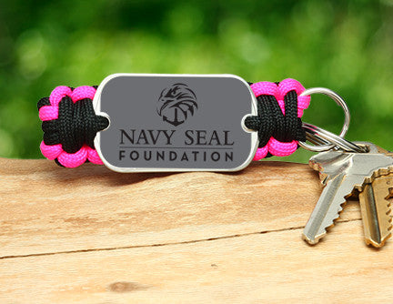 Key Fob - Navy SEAL Foundation - Black and Pink