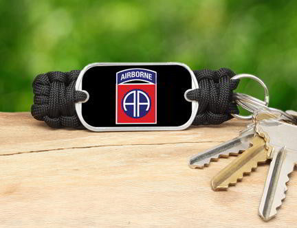 Key Fob -U.S. Army™ 82nd Airborne Black