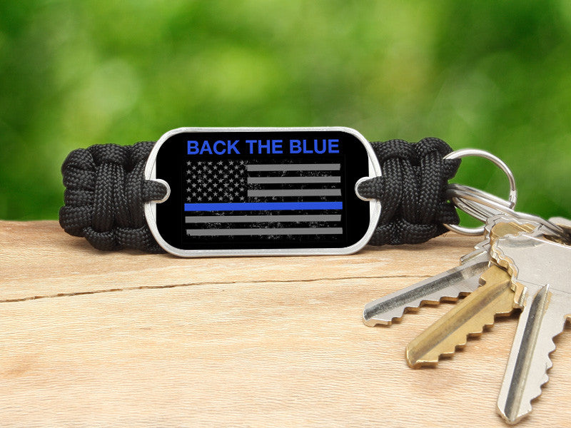 Key Fob - Back the Blue - Flag