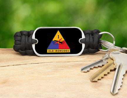 Key Fob-U.S. Army™ 1st Armored Black
