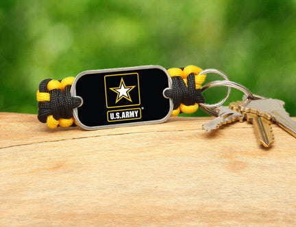 Key Fob - Officially Licensed - U.S. Army™ - Black/Yellow