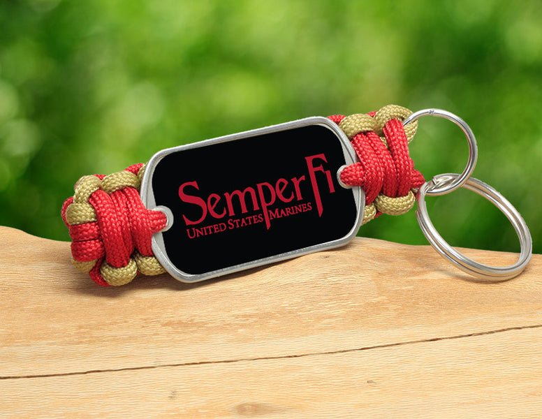 Key Fob - Red Semper Fi