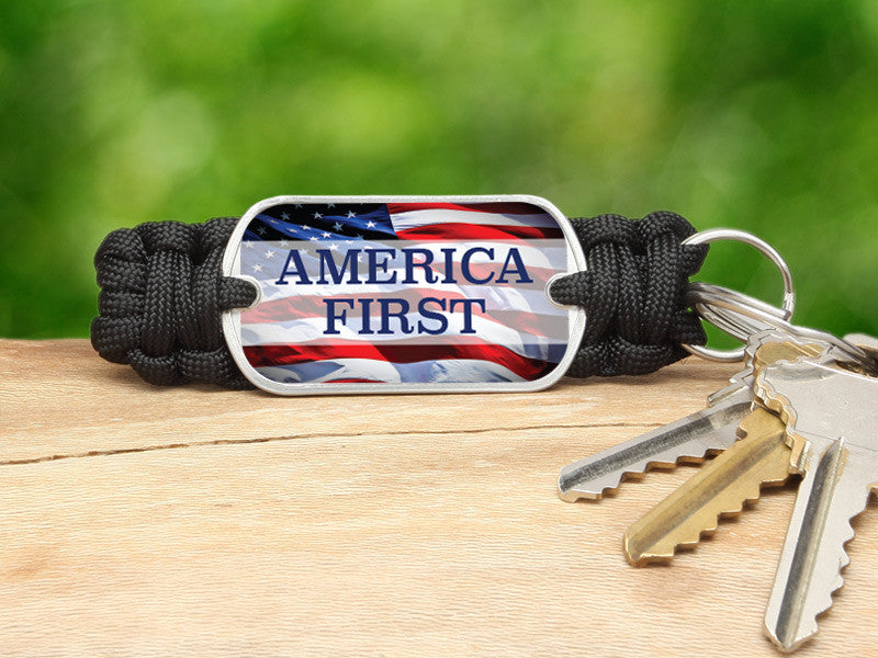 Key Fob - America First Black