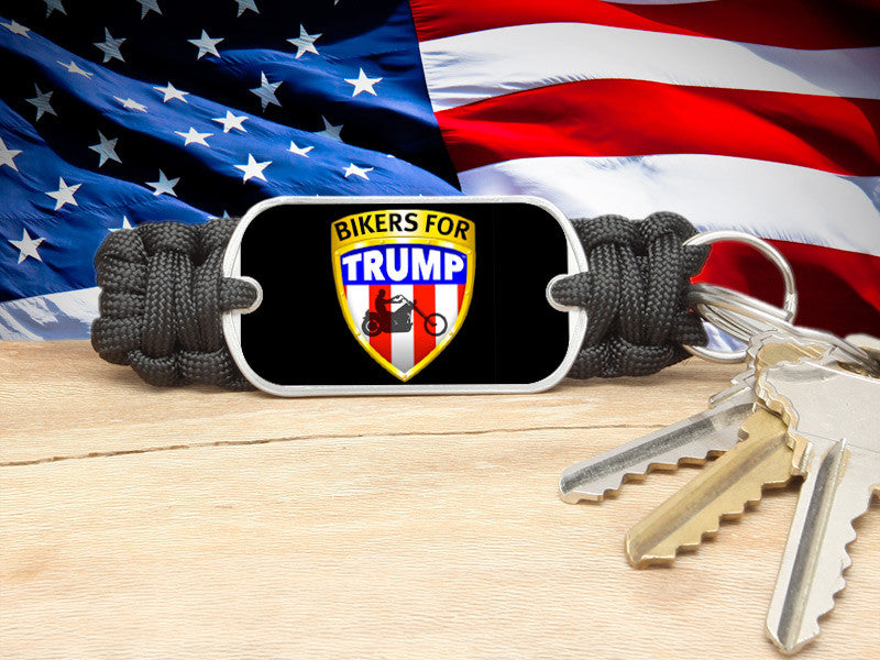 Key Fob - Bikers For Trump - Black Background