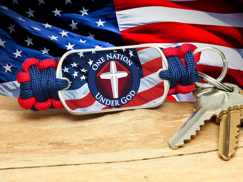 Key Fob - One Nation 1 - R. Patriot