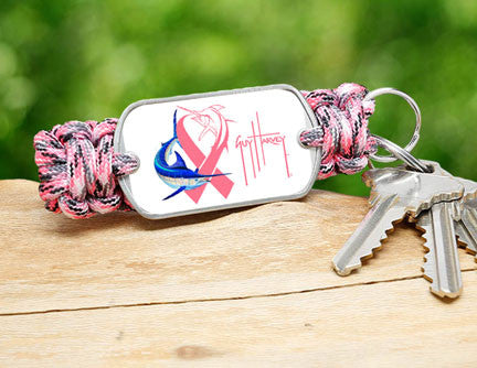 Key Fob-Guy Harvey-Camo Pink Ribbon